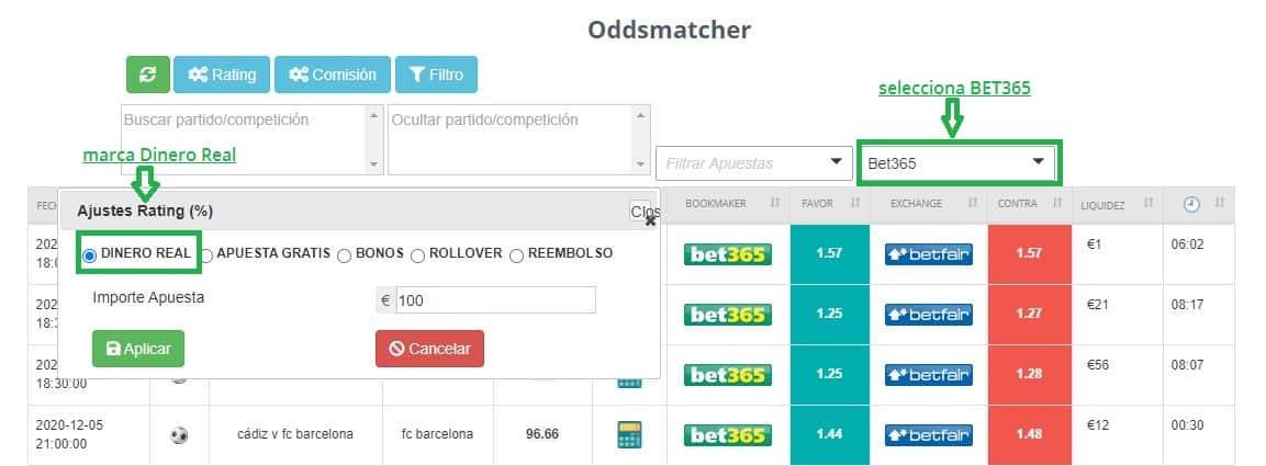 bono de bienvenida para hacer matched betting